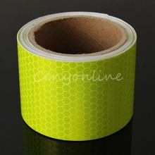 2015 New Arrival For 3M Fluorescence Yellow Reflective Safety Warning Conspicuity Tape(China (Mainland))