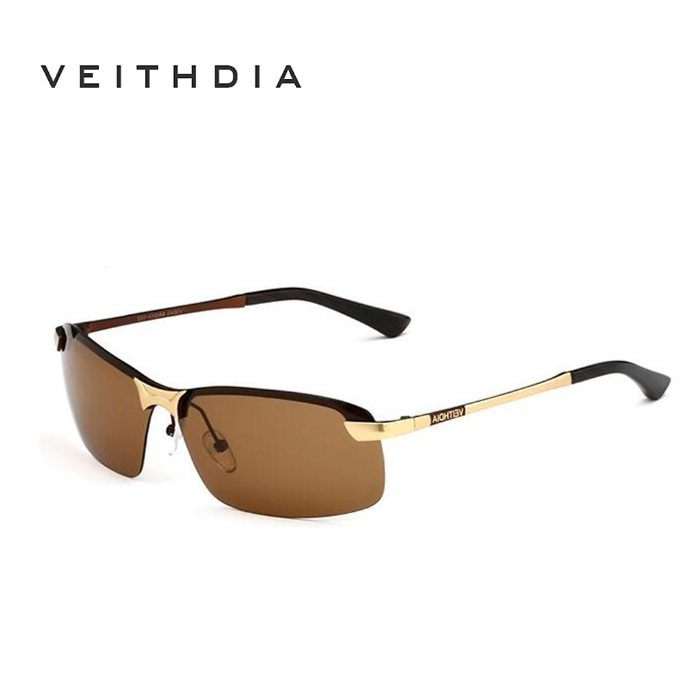 Veithdia Brand Polarized Men's Sunglasses Rimless Sport Sun Glasses Driving Goggle Eyewear For Men oculos de sol masculino 3043(China (Mainland))