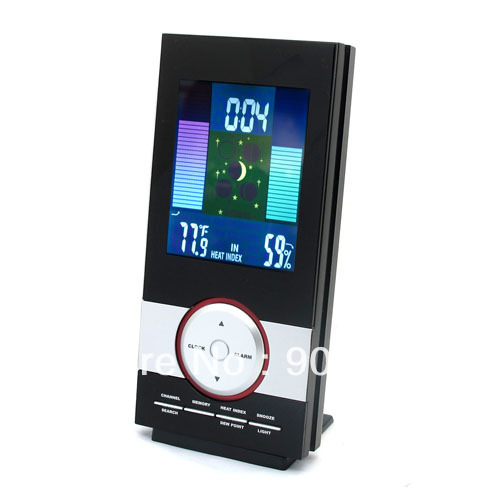 10pcs EMS Brand New LCD backlit Wireless RF 434MHz Weather Station Thermometer Hygrometer In/ Outdoor Temperature Humidity