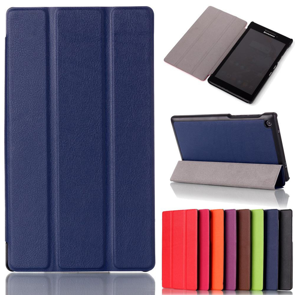 For Lenovo tab 2 A7-30 2015 7'' Tablet PC Protective Leather Stand flip Case Cover for Lenovo A7 30 +screen stylus pen(China (Mainland))
