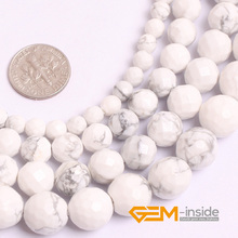Buy round faceted howlite stone beds natural stone beads DIY loose beads jewelry making strand 15 inches wholesale ! Store) for $3.84 in AliExpress store