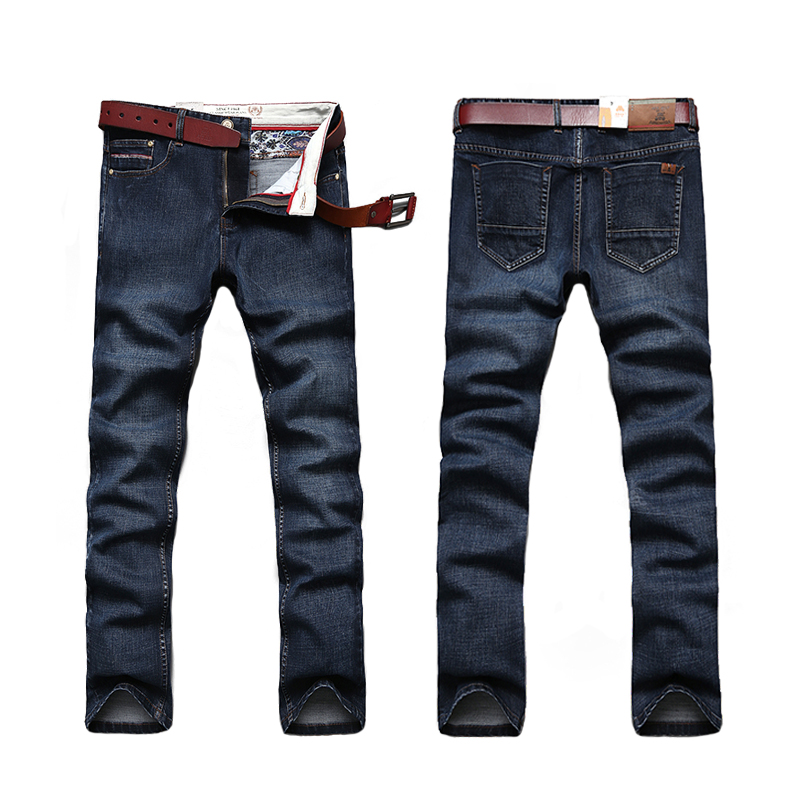 Classic Hot Sale Stright Cotton Men Jeans Fashion Denim Jeans Men Comfortable Dark Blue Washed Jeans(China (Mainland))