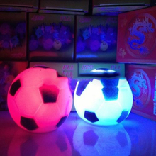 2015 Rushed Time-limited Abs Holiday Notebook Luminaria Color Football Soccer Shape Led Night Lamp Party House Decor Hus K3070