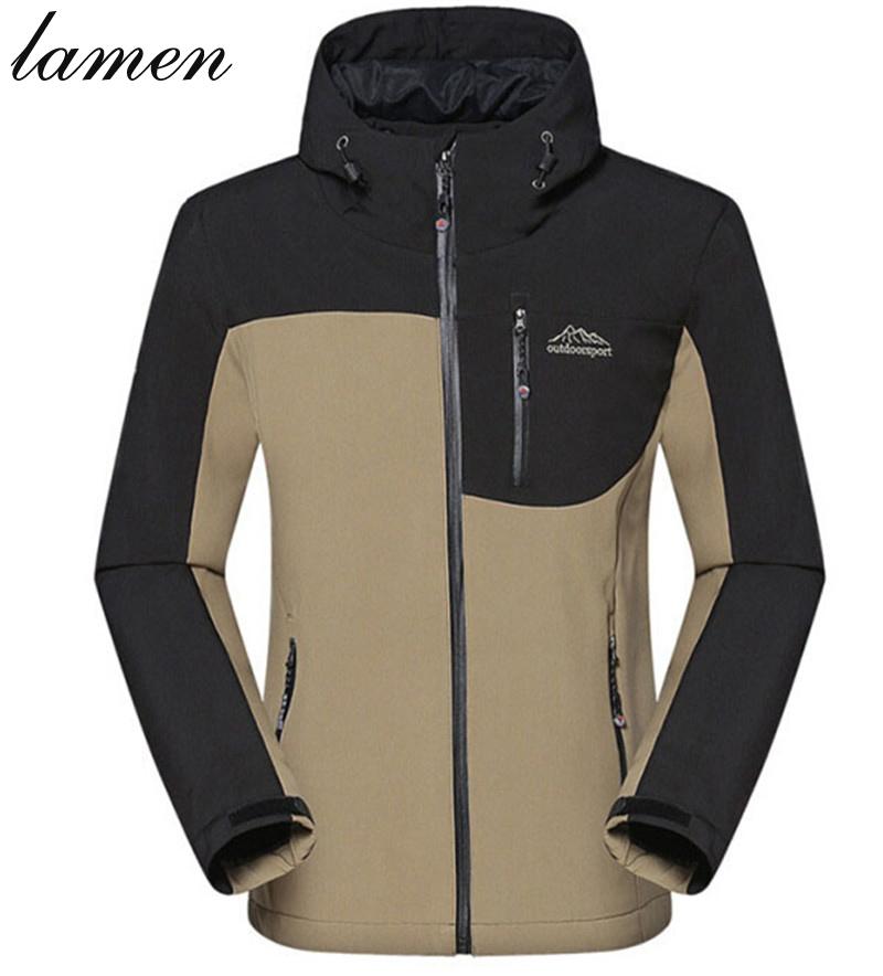 Lamen Outdoor men soft shell fleece jacket outdoor travel warm windproof Jackets slim fit snow ski sport jackets men clothing(China (Mainland))