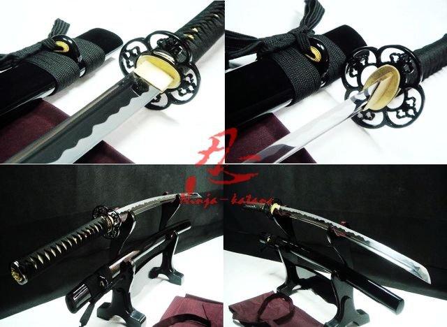 """40.6""""japanese samurai katana full tang sword plum blossom tsuba very sharp blade(China (Mainland))"""