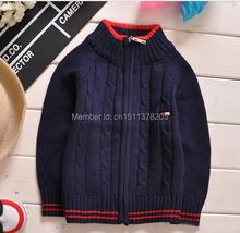 New Fashion zip sweater 2014 brand Boy Sweater Children sweatercoat kids Sweaters Girl cardigan Free Shipping