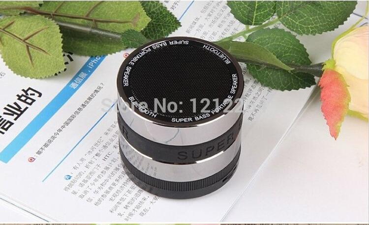 Bluetooth Super Bass Mini Portable Handsfree Wireless Speaker Camera Lens Design For Apple iPhone Samsung Computer 50pcs(China (Mainland))