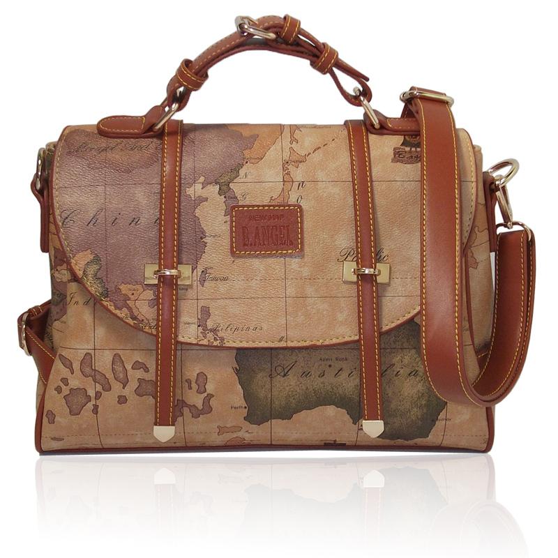 2015 new arrival geometry map women's world map bags ladis' travelling shoulder bags handbags vintage bags messenger bag #722(China (Mainland))