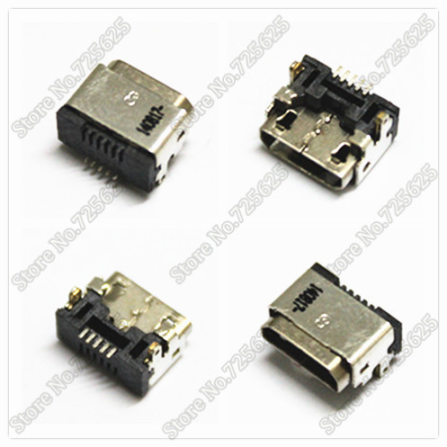 6.3*8*4mm MINI USB charging power jack connector port for Amazon Kindle Fire Series Tablet 50pcs(China (Mainland))