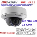 3MP Varifocal Lens IP Dome Camera DS 2CD2735F IS Replace DS 2CD2732F IS 1080P CCTV IP