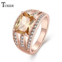 Buy Fashion Multicolor Ring Women Foreign trade characteristics claw shape Cubic Zirconia Rose Gold Color Wedding Finger Ring for $2.23 in AliExpress store
