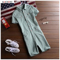 Fashion Denim Jumpsuit Men Casual Pants Multi Pockets Hip Hop Overalls for Men green Outdoors Trousers