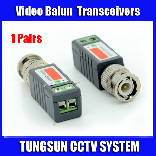 1Pairs CCTV Twisted BNC Passive Video Balun Transceiver Coax CAT5 Camera UTP Cable Coaxial Adapter Camera DVR Free Shipping(China (Mainland))