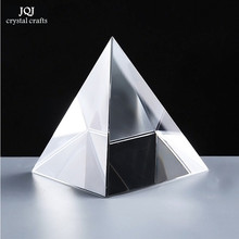 6CM K9 AAA Quartz Crystal Glass Pyramid Paperweight natural stones and minerals crystals Fengshui Figurine For Home Office Decor(China (Mainland))