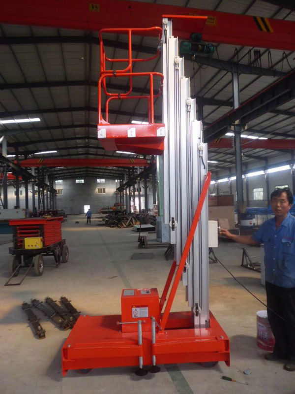 Electric Hydraulic Single Mast Aluminium Work Lift Tables(China (Mainland))