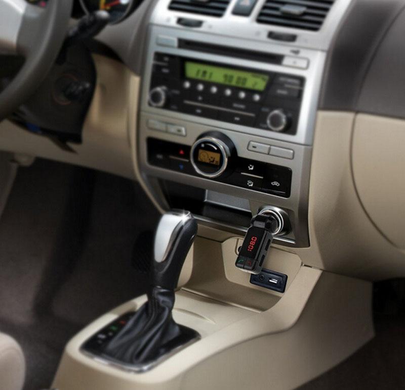 Электронный автомобиль mp3-плеер 3,5 мм - автомобиль fm-передатчик Bluetooth для iPhone беспроводной передачи телефонный звонок