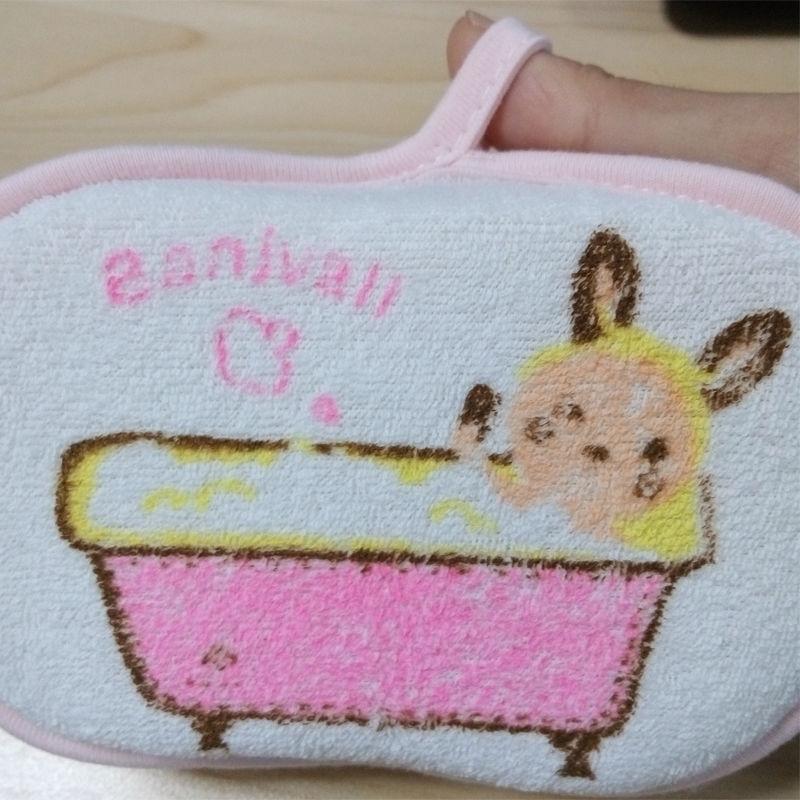 Lovely Newborn Children Baby Bath Rub Cotton Shower Sponge Bath Brush Hot 1PC(China (Mainland))