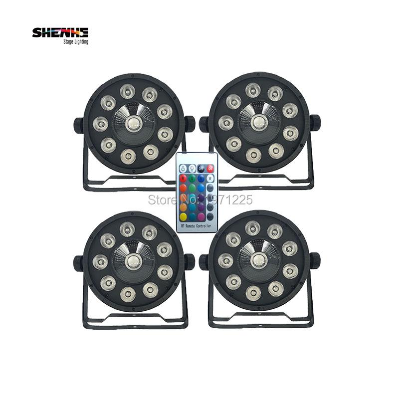 , 4pcs Wireless Remote Control 9X10W+1X30W RGB Controller Light 3IN1Stage DJ Light DMX Led Par bar Party Lights Home