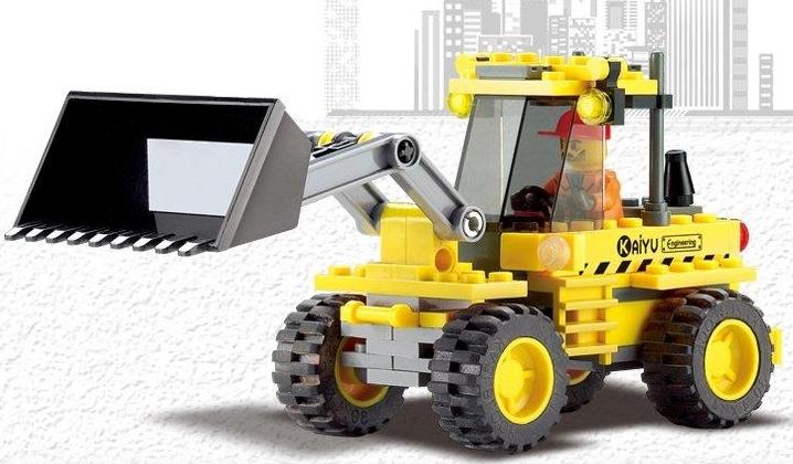 Lego Compatible Plastic Insert Blocks Educational Toys Earth Mover Bulldozer, 1set=117pcs(China (Mainland))