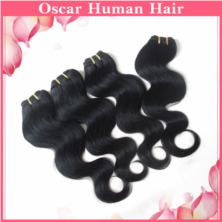 Aliexpress 6Bundles Cheap Mongolian 100% Remy Human Hair Products Rosa Dream Beauty Color#1b Gorgeous Soft Texture Free Shipping(China (Mainland))