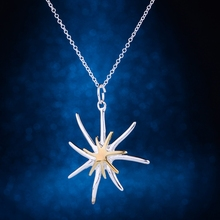 silver plated Necklace,  silver Pendant fashion jewelry , starfish shiny lovely /cdvakvca dvdammka LQ-P026(China (Mainland))