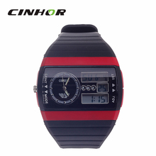 OHSEN AD1305 2015 New Arrival Fashion Multifunctional Analog Digital Dual Display Waterproof Wrist Watch for Men