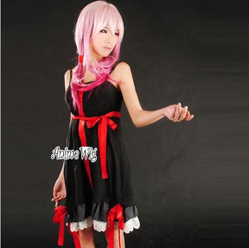 Stylish Anime Cosplay Costume Guilty Crown Inori Yuzuriha Women Dress Clothing(China (Mainland))