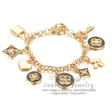fashion jewelry / fashion 18K gold charm bracelet for women(China (Mainland))