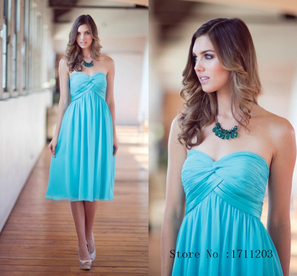 Light Teal Short Bridesmaid Dresses - Wedding Dress Ideas