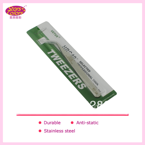 2015 Nonmagnetic Stainless Steel Straight Curved Tweezers Brand Craft Picking Tool Make Up Pair of Tweezers Eyelashes Extension(China (Mainland))