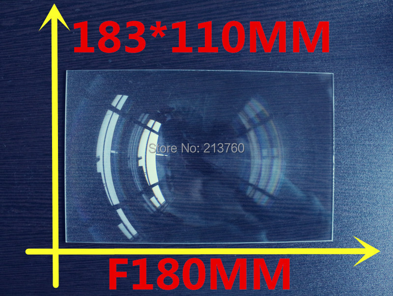 Mobile phone DIY projection 7 Inch Fresnel Lens rectangular size for 183*110MM  Focal length 180mm Thicknes 2MM Lines from 0.3mm