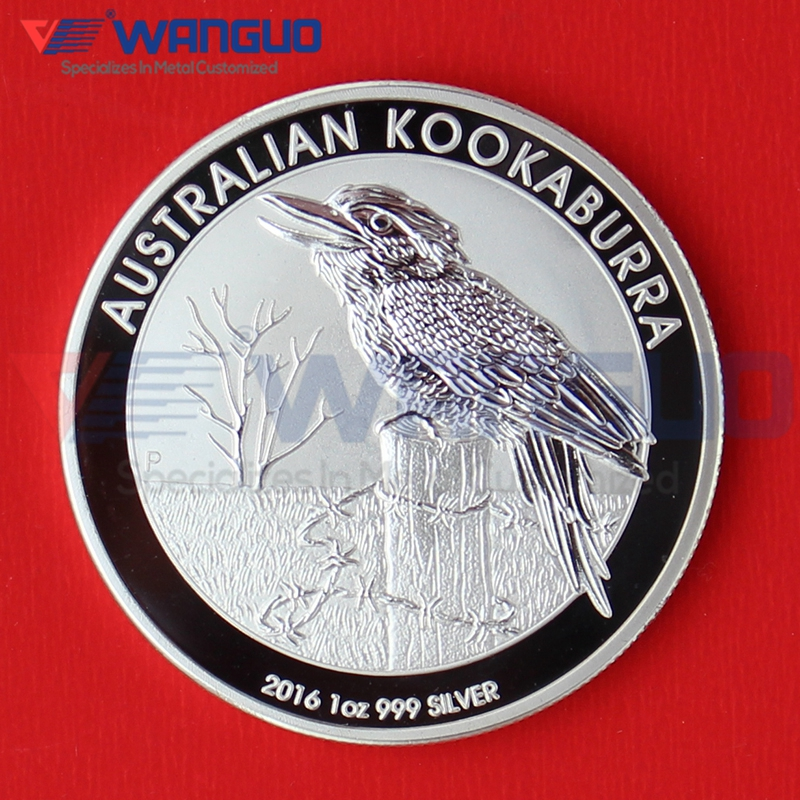 5 pcs/lot Non Magnetic One Troy Ounce 1 oz Silver Plated 2016 Kookaburra Coins(China (Mainland))