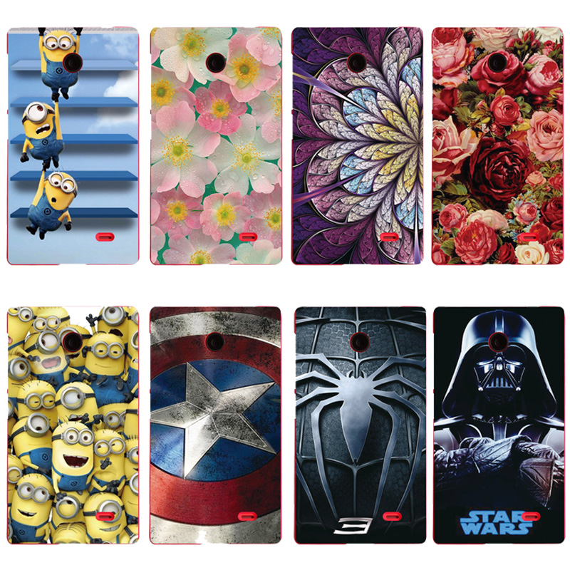 Shell For Nokia X A110 Back Case Cover Printing Flowers Minions Batman Superman Star War Cell Phone Cases