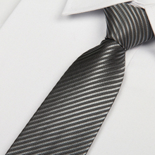 2014 new tie 8cm silver men's neck ties striped Solid corbatas lotes Free shipping