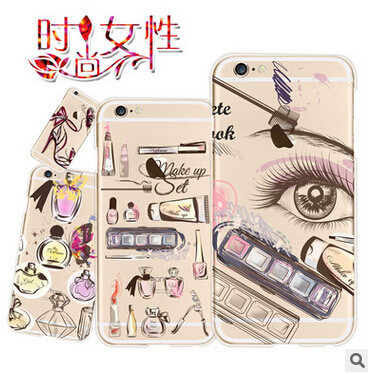 Fashion Shopping Girl Retro Perfume Case Cover For Apple iPhone 6 6S Case Silicone 6 Series Luxury Soft TPU Case For Phone(China (Mainland))