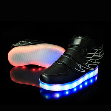 25-37 Size/ USB Charging Basket Led Children Shoes With Light Up Kids Casual Boys&Girls Luminous Sneakers Glowing Shoe enfant(China (Mainland))