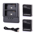 Dual USB Battery Charger 2 x 1180mAh Batteries for Gopro HD Hero 3 3 BC319