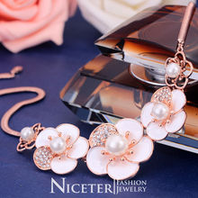NICETER Korean Styles Exaggerate Flower Elegant Statement Necklace Fashion For Women Anniversary  Jewelry 801030195T(China (Mainland))