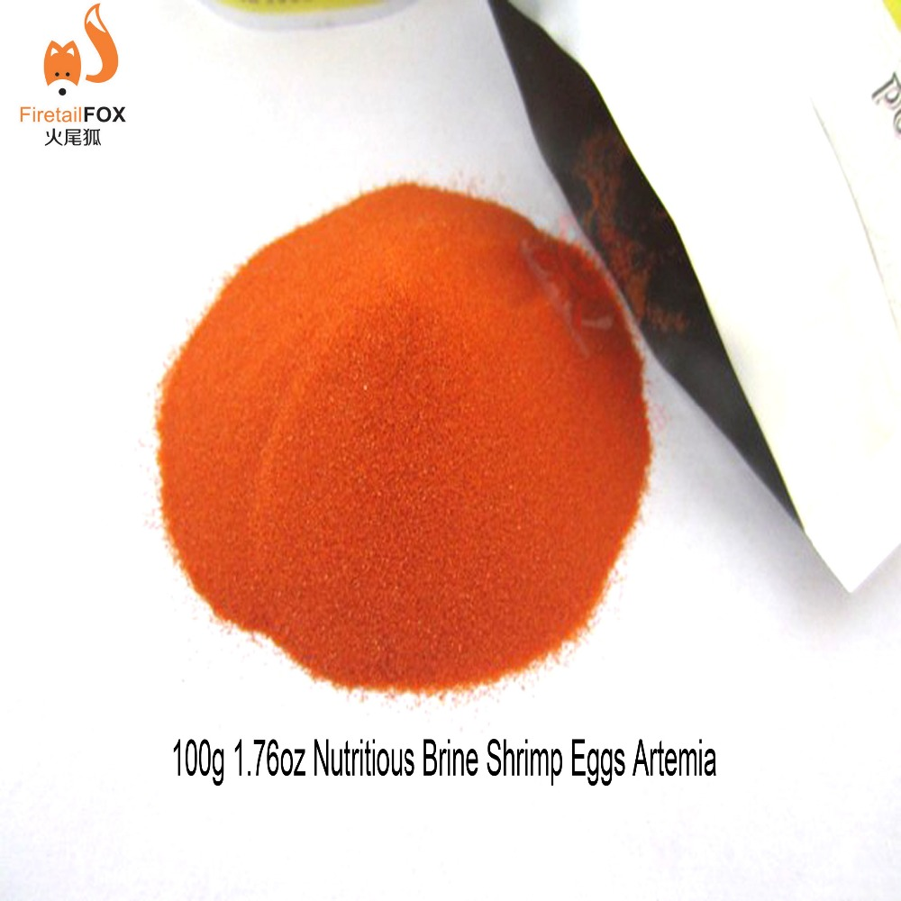 100 gram Brine Shrimp Eggs Artemia Cycts Ocean Nutrition Fish Food Feeding Supplies Can Feed Directly(China (Mainland))