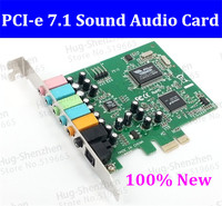 Free Shipping 1pcs  PCI Express PCI-E 7.1 Bundle Deal 24-bit Sampling Rate 7.1 PCI-e  Sound Audio Card