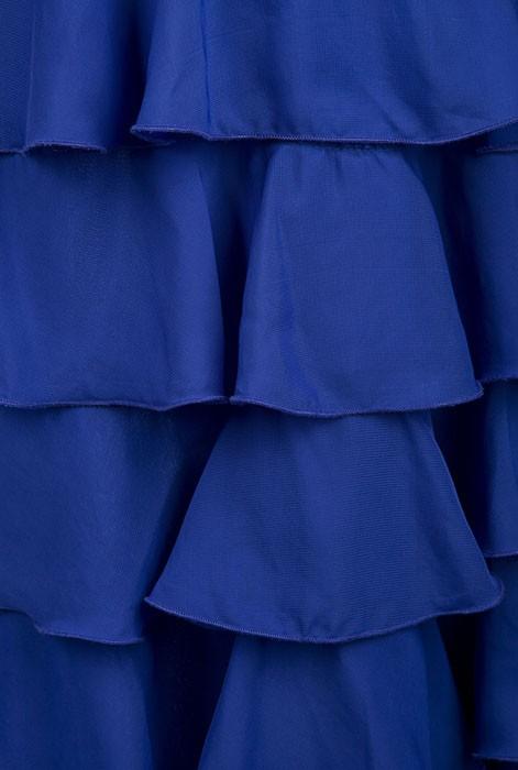 Ангел моды Вечернее Платье Abendkleid Без Бретелек Бисероплетение Многоуровневое Оборками Щелевая Длинные Жилетido де феста Синий