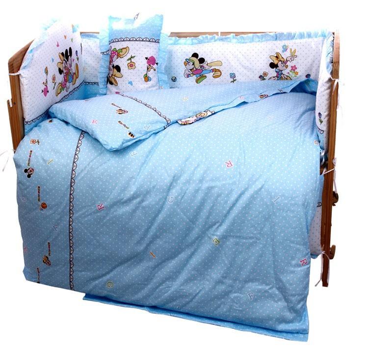 Promotion! 10PCS baby crib bedding set crib set ropa de cuna Comforter cot quilt sheet (bumper+matress+pillow+duvet)<br><br>Aliexpress