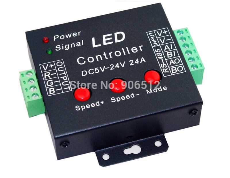 Free Shipping 3CH RGB Controller,3 channel RGB control for LED strip light,LED RGB dump node,DC5V-24V,each channel max 8A(China (Mainland))