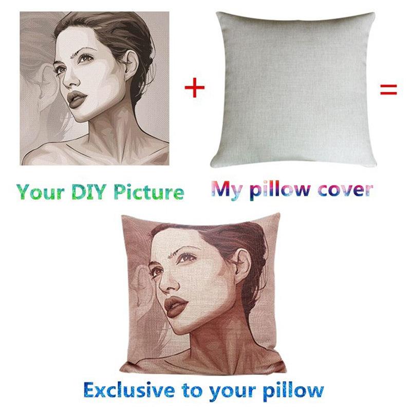 Custom DIY 45cm 55cm 60cm Fashion Cotton Linen Fabric Throw Pillow Hot Sale New Home Decor