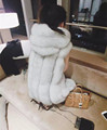 Fur vest female 2016 medium long fox fur rex rabbit hair wool with a hood vest