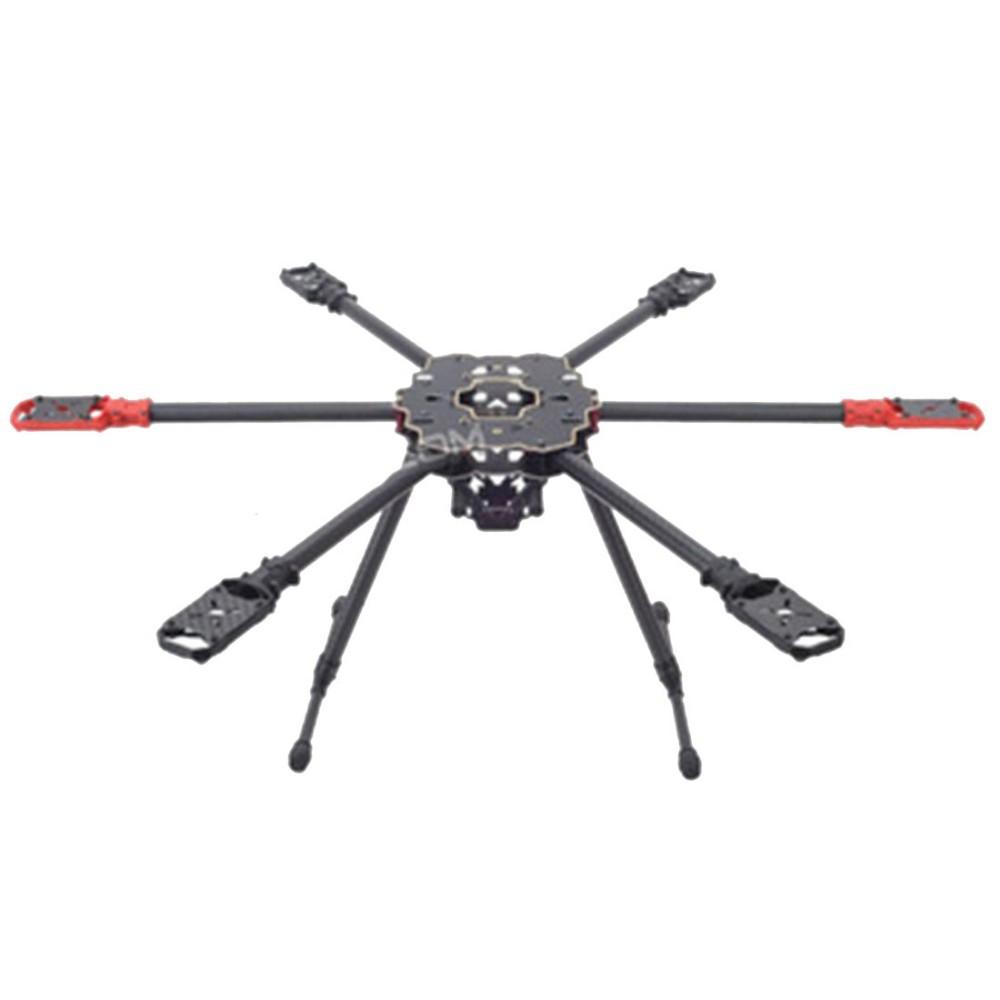 FPV HMF S680 Carbon Fiber 6-Axle Solder PCB Folding Hexacopter Frame Kit F09002<br><br>Aliexpress