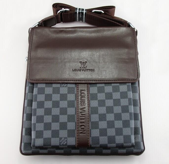 famous brand men bag designer handbags high quality fashion men leather handbags shoulder bags for men 1pcs/lot Free Shipping(China (Mainland))