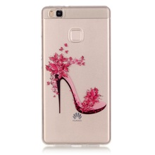 Huawei P 9 Lite / G9 TPU Cases Phone Bag IMD Clear Skin Cover Shell P9 Lite- High-heeled Shoes - Tvcmall online1 Store store