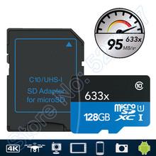 Buy 95MB/s 633x MicroSD 16G microSDHC 32GB Class 10 64GB microSDXC 128GB Memory Card Reader UHS Drone Gopro Hero Sport Camcorder for $19.99 in AliExpress store