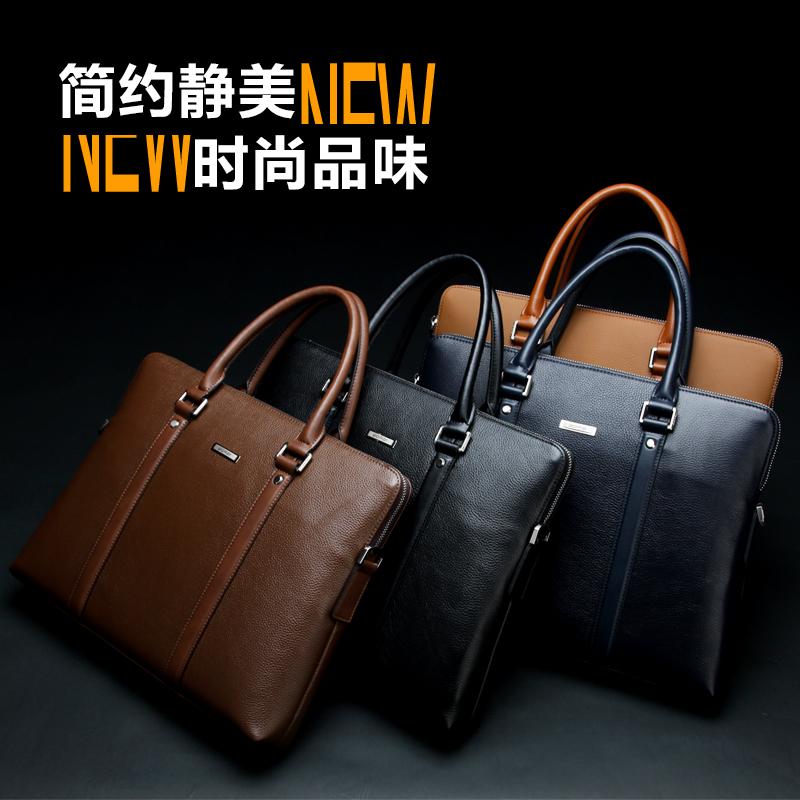 Genuine Leather Bag 2016 Men Messenger Bags European Style Mens Travel Bag Brown Vintage Laptop Bag Briefcase Handbags<br><br>Aliexpress